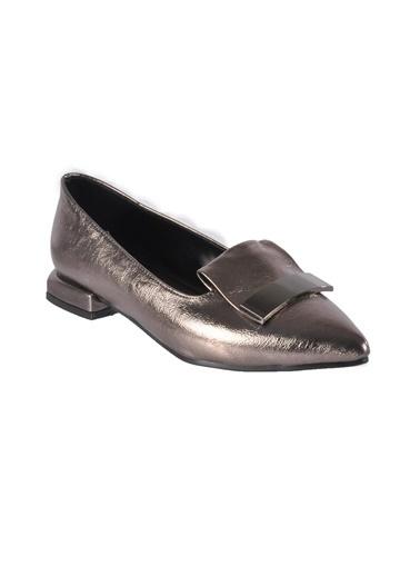 Mhd 149 Platin Kadın Günlük Ayakkabı Gümüş